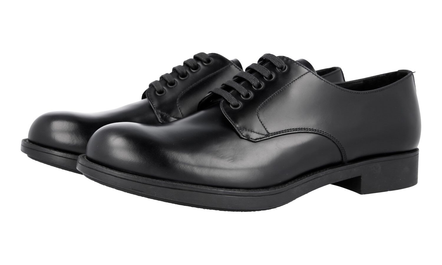AUTH LUXURY PRADA DERBY BUSINESS SHOES 2EE212 BLACK NEW 6 40 40,5