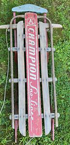 "Vintage Champion Sno-Liner Racing snow Sled 48"" 1950's Kalamazoo Michigan *Nice"