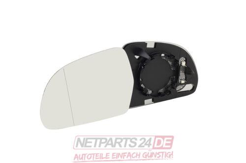 Fahrerseite asphärisch Audi A3 Sportback 8Pa Neu Spiegelglas Spiegel-Glas links