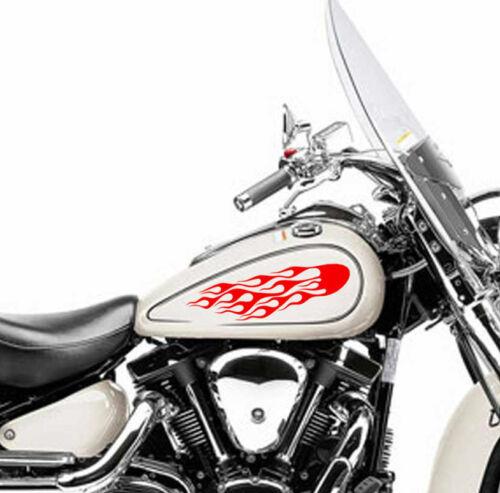 Flame Fuel Tank Fire Vinyl Sticker  Motorcycle Motor Decal Motorbike Bike 2
