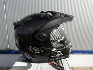Casco-para-motocicleta-Uvex-ENDURO-3-en-1-Negro-Carbon-Un-Talla-M-NUEVO-ORIGINAL
