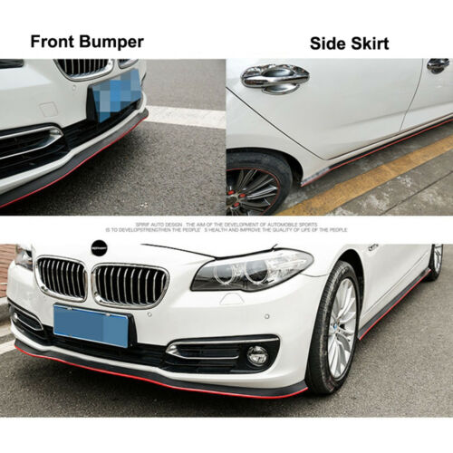 2.5M Universal Car Front Bumper Lip Splitter Spoiler Valance Chin Protector BR