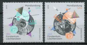 Liechtenstein-Stamps-2019-MNH-Apollo-11-Moon-Landing-50th-Anniv-Space-2v-Set