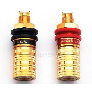 4Pcs-CMC-838-S-G-Gold-Plated-Amplifier-Speaker-Terminal-Binding-Post-Socket