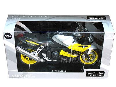 AUTOMAXX 600302YL BMW K1200S BIKE MOTORCYCLE 1//12 BLACK YELLOW