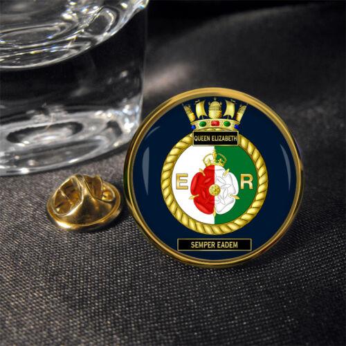 HMS Queen Elizabeth Lapel Pin Badge Gift