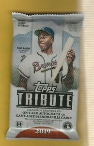 2019-Topps-Tribute-HOBBY-Pack-Get-an-On-Card-Auto-or-Game-Used-Memorabilia-Pack