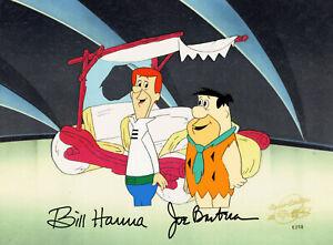 Jetsons/Flintstones-George/Fred-Original Production Cel Signed By Hanna+Barbera