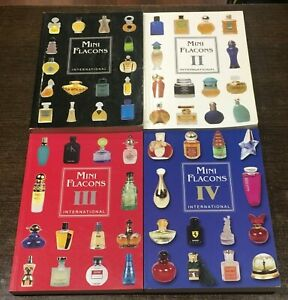Mini-Flacons-International-1-2-3-4-LOT-Sammler-Uhren-Perfume-collector-guides