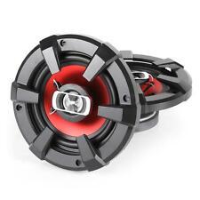 "PAIR 6"" INCH 1200 W CUSTOM CAR AUDIO COAXIAL SPEAKER SET SUB RED/BLACK *FREEP&P*"