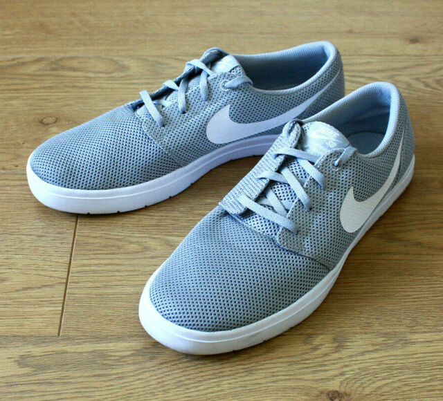 New Nike SB Portmore II Ultralight Mens 880271-011 Grey Mesh Skate Shoes