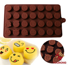Silicone 28 Emoji Expression Chocolate Mold Cake Icy Fondant Sugar Jelly Moulds