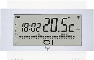 Cronotermostato-Touch-Da-Parete-Bianco-TH-500-WH-A-Batterie