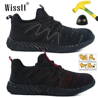Men Steel Toe Safety Sneakers Construction Working Shoes for Hiking Trail Tennis