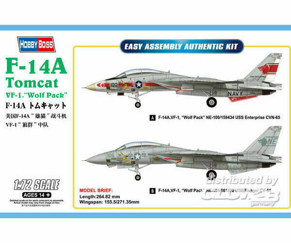 Hobby Boss: F-14A Tomcat in 1:72