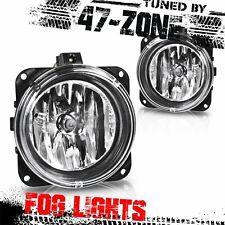 For Ford Escape Focus Mustang Cobra Clear Lens Chrome Housing Pair Fog Lights