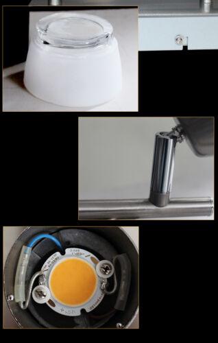 LED Deckenlampe SX8228-02A   2x5W Deckenleuchte Balken  Nickel matt Glas