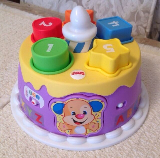 Stupendous Fisher Price Smart Stages Magical Lights Birthday Cake Dmp93 For Personalised Birthday Cards Beptaeletsinfo