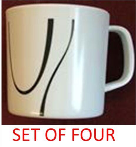 Set of four 4//individual Zen melamine mug mugs