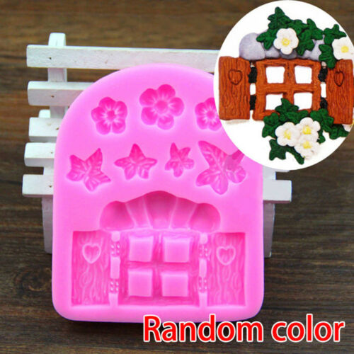 3D House Door DIY Silicone Fondant Moulds Cake Decoration Chocolate Cutter Mold