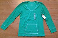 Women's Lizwear Green Pullover Long Sleeve Shirt Top Size Small S