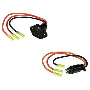 3 Wire Trolling Motor Plug and Socket Set for Boats - 10 Gauge ...