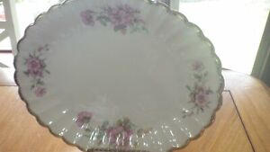 Vintage-Oval-Serving-Platter-Wild-Rose-Golden-Ware-Sebring-USA-11-034-platter