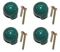 (4-pack) Liberty Hardware Drawer Knob Ball Green Ceramic Cabinet Pull 1.25