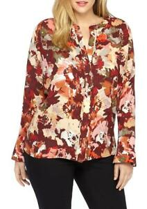 d7cc9d2112b Image is loading THE-LIMITED-Plus-Size-1X-Abstract-Floral-Print-