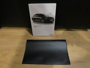 Image Is Loading 2017 Audi A6 Owners Manual Book Case All