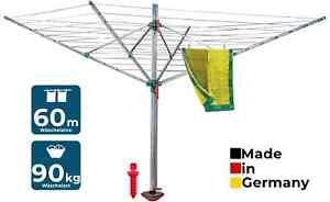 Blome Wäschespinne Idea inkl. Schutzhülle & Bodenhülse, 60 m Leine, Wäscheschirm