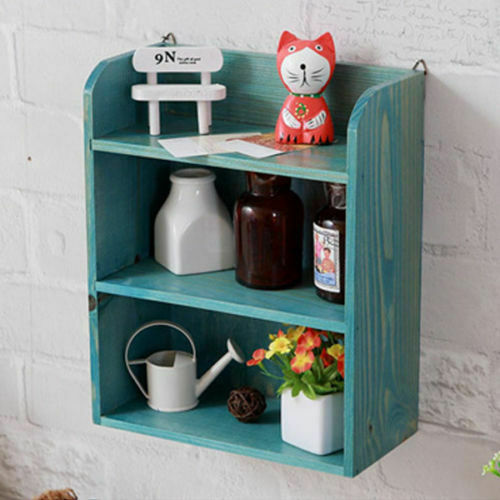Kitchen Herb Cabinet Unit Wall Mounted Wooden Shelving Storage Spice Rack Cubes