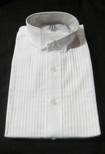 New White Ladies Wing Collar Tuxedo Shirts Butterfly Tip Woman Shirt Waitress