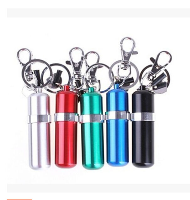 Portable Stainless Steel Alcohol Burner Lamp With Keychain Keyring Colorful LJ