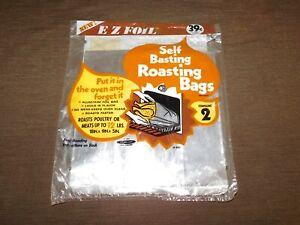 VINTAGE-KITCHEN-FOOD-1978-E-Z-FOIL-SELF-BASTING-ROASTING-BAGS-NEW-NOS