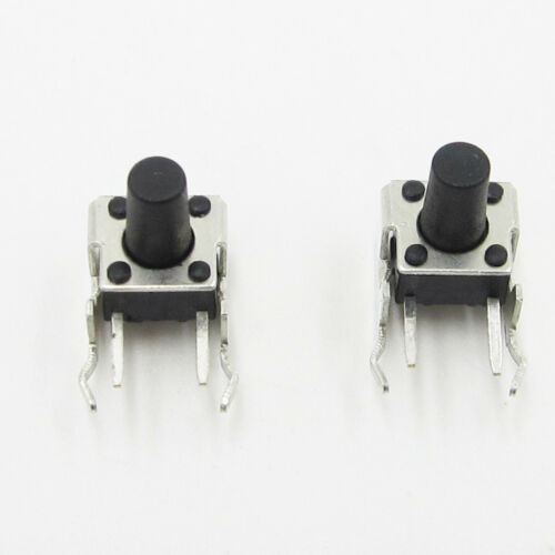 50Pcs 6x6x9mm Right Angle 2 Pin Momentary Tactile Tact Push Button Switch