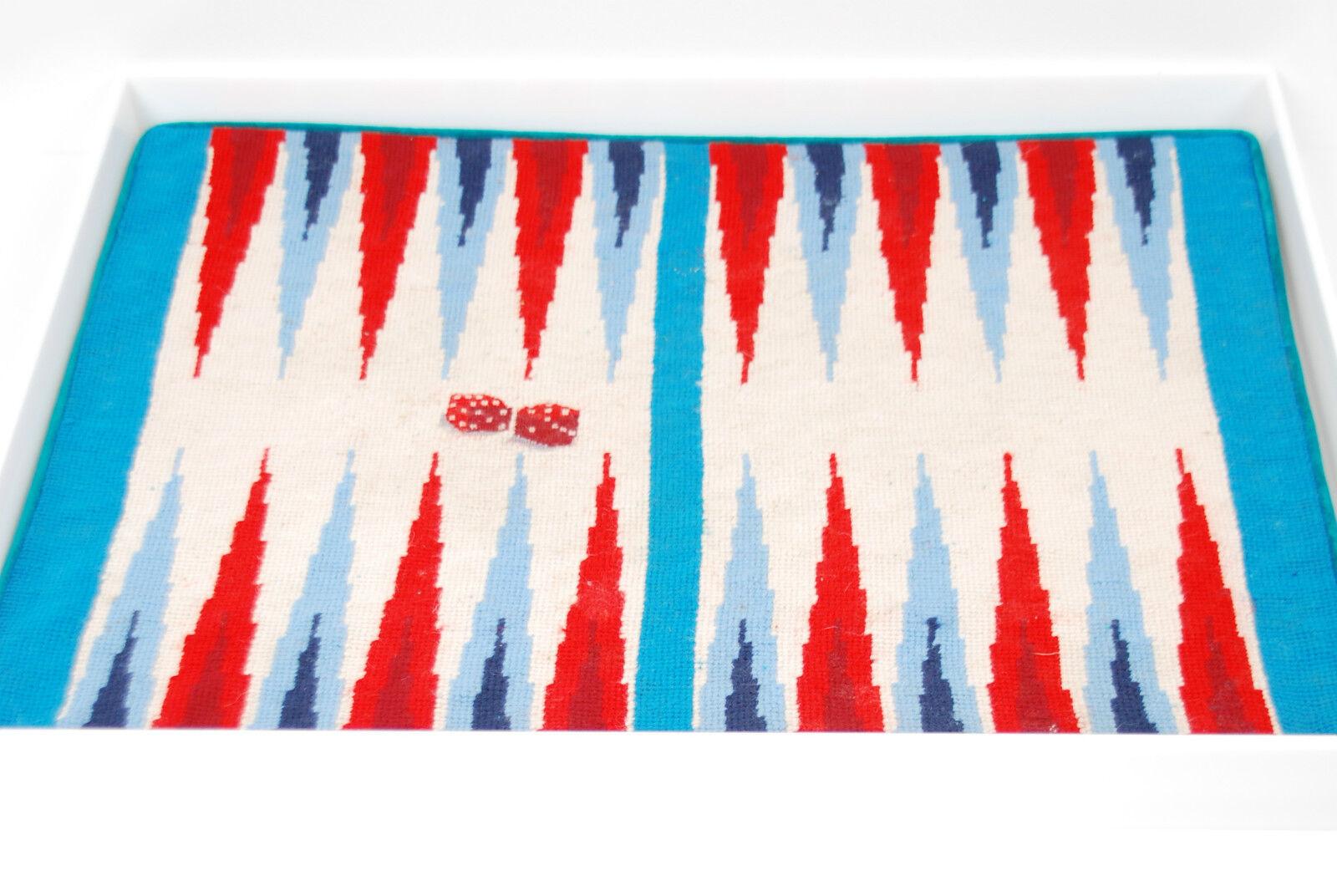 suministro directo de los fabricantes Jonathan Adler Needlepoint backgammon regalo de Navidad PIR    bcf511  Obtén lo ultimo