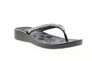 Harley-Davidson Anders D84411 Womens Black Synthetic Flip-Flops Sandals Shoes