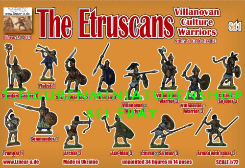 "1:72 FIGUREN 014 The Etruscans /""Villanovan Culture Warriors/"" LINEAR-A"
