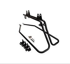 Black Saddlebag Support Conversion Bracket kit For Harley Heritage Softail 84-13