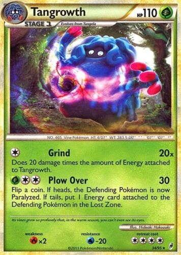 TANGROWTH 34//95 CALL OF LEGENDS POKEMON RARE CARD