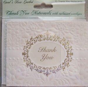 Carol-Wilson-Fine-Art-Thank-You-Cards-10-Embossed-Set-Wedding-Marriage-Newlyweds