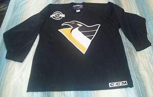 6f59ac30a Image is loading PITTSBURGH-PENGUINS-BLACK-CCM-PRACTICE-HOCKEY-JERSEY-X-