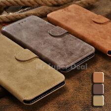 HTC One M9 Smartphone Wildleder Synthetisch Etui Tasche Flip Case Bumper Back
