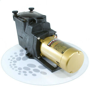 Hayward 2 hp super pump sp2615x20 inground pool pump w 2 for Pool pump and motor replacement cost