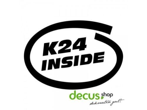 K 24 INSIDE L 2083 13x9 cm //// Sticker JDM Aufkleber Frontscheibe