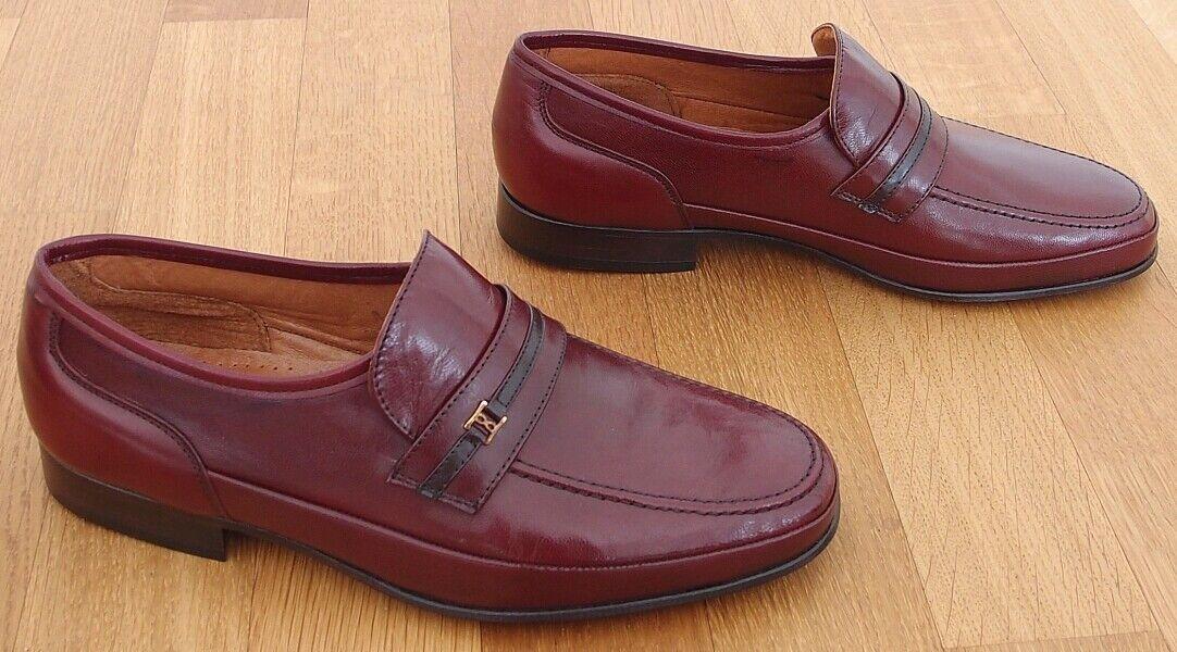 MIRAMAR - Business Halb Schuhe - Leder Sohle - Farbe  rot braun - Größe  39 = 6