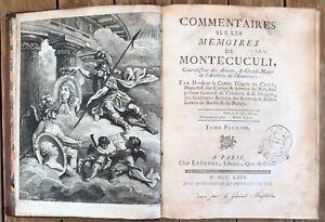 Commentaires-sur-les-Memoires-de-Montecuculi-Turpin-De-Crisse-3-vol-Parigi-1769