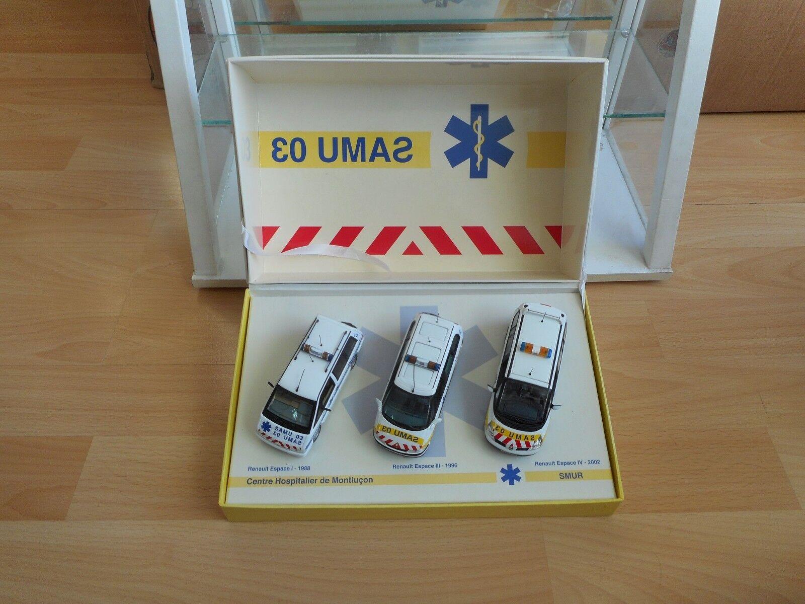 Universal Hobbies Renault Espace Samu 03 Gift Set in bianca on 1 43 in Box