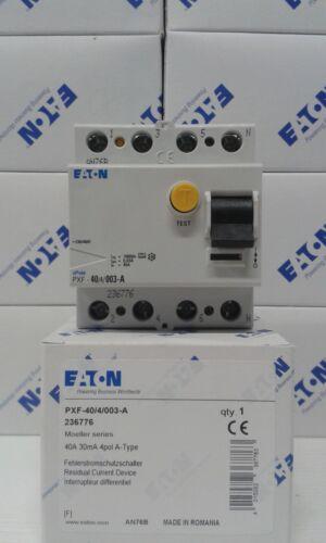 Eaton Moeller Fehlerstrom-Schutzschalter PXF-40//4//0,03 FI 40A 30mA 4-pol 236776